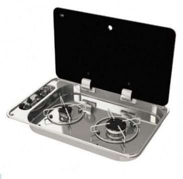 CAN FC1336 Rectangular gas hob-unit 2 burners